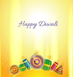 Diwali crackers card vector