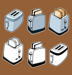 Doodle style toasters vector