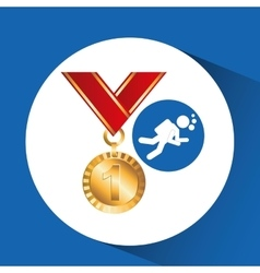 Extreme sport avatar diving and medal vector