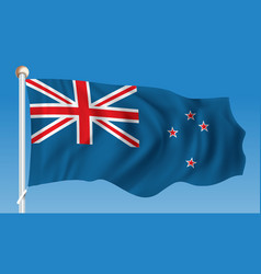 flag of new zealand vector image