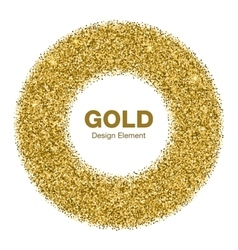 Golden circle frame jewelry gold emble vector