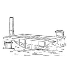 Harris pan vintage vector