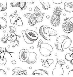 Healthy fruit hand drawn seamless texture vector