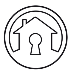 House lock concept symbol vector