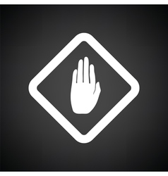 Icon of warning hand vector