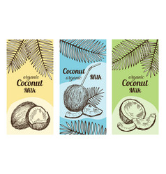 labels for package design with hand drawn vector image vector image