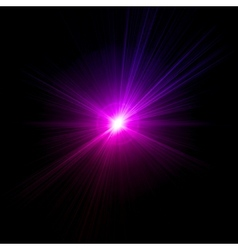 Light flare pink effect vector image vector image