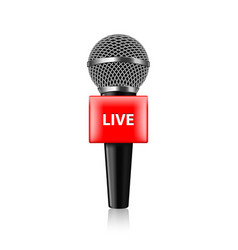 live tv microphone isolated vector image vector image