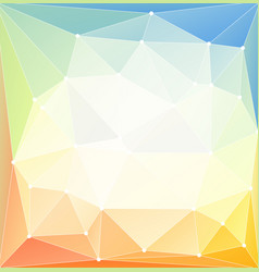 low poly bright background vector image