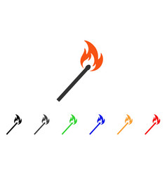match fire icon vector image