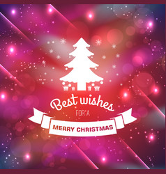 merry christmas bright template vector image vector image
