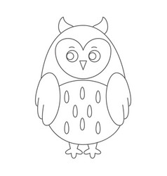 owl for coloring book vector image vector image