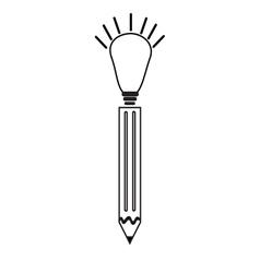 pen ideas icon vector image vector image