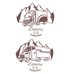 set of logos heavy truck vector image vector image