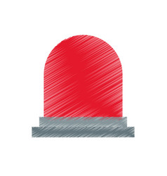 Siren or beacon icon image vector