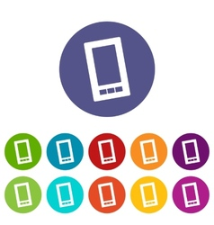 Telephone flat icon vector image