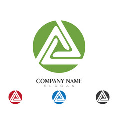 Triangle logo template icon design vector