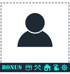 User icon flat vector image vector image