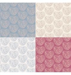 Valentines Day Pattern Set vector image