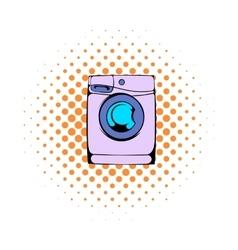 Washing machine comics icon vector image