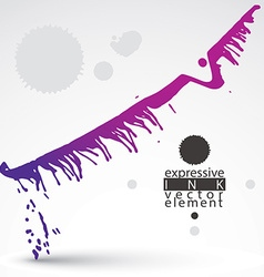Watercolor bright graffiti splash element vector image