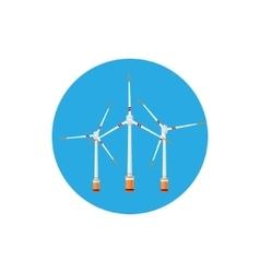 Wind turbines icon vector