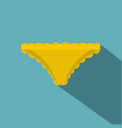 Yellow panties with frill icon flat style vector