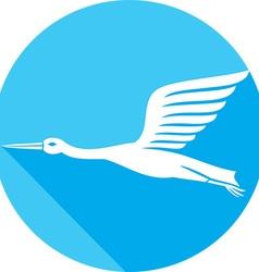 Stork bird icon vector