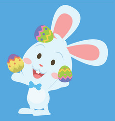 Style easter bunny character collection vector
