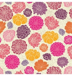 Colorful abstract flowers seamless pattern vector