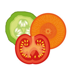Healthy food vegan icons vector