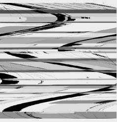 Monochrome glitch art background vector