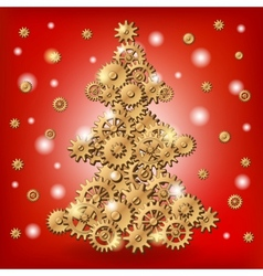 Mechanical christmas tree vector