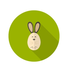 Oval rabbit flat icon vector