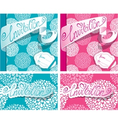 Invitation cards 1 380 vector