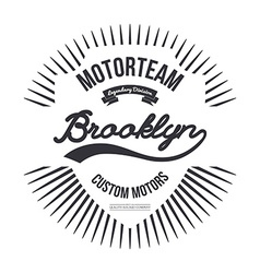 Motorteam brooklyn t-shirt graphic vector
