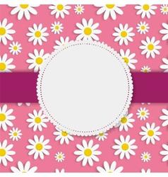 Flora daisy framel design vector