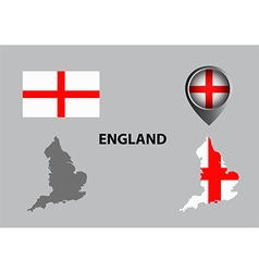Map of england and symbol vector