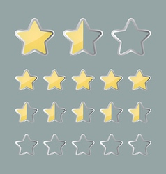 Rating stars status icons vector