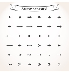 Black set arrows vector image