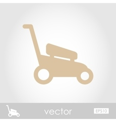 Lawn mowers icon garden vector