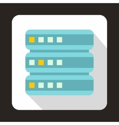 Database icon flat style vector image