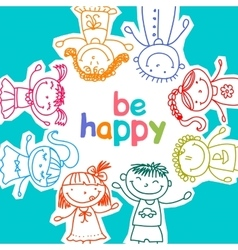 Colorful children vector