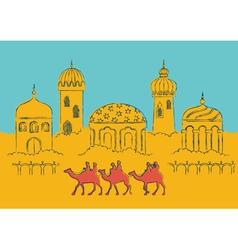 Arabian city vector