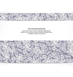 Beautiful floral invitation card black and white vector