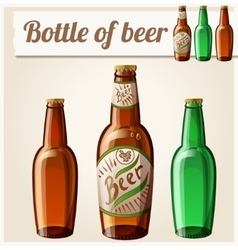Bottle of beer Detailed Icon vector image vector image