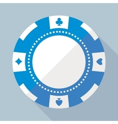 Casino gambling chip flat icon vector