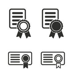 Certificate icon set vector