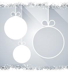 Christmas paper balls on light background vector