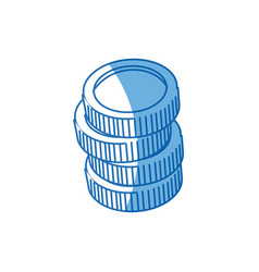 Coins stack money currency bank concept vector